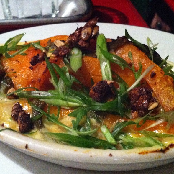 Kabocha Squash And Poblano Chili Gratin With Queso Fresco And Spiced Pepitas  @ Forage