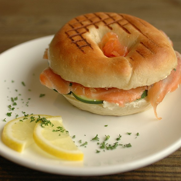 Citrus-Cured Salmon Bagel @ Chaiwanese