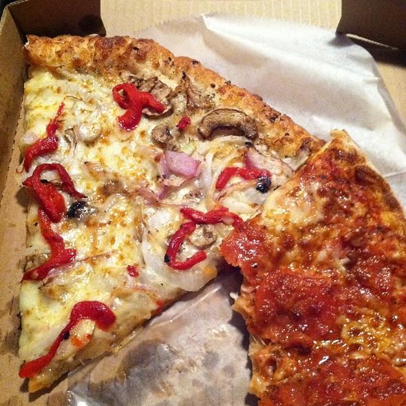 Veggie Slice And Pep Slice @ Pizza Luce Uptown