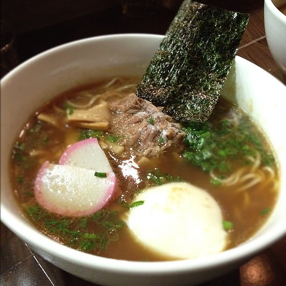 shots ramen with smoked pork shoulder and slow cooked egg @ WAFU Restaurant