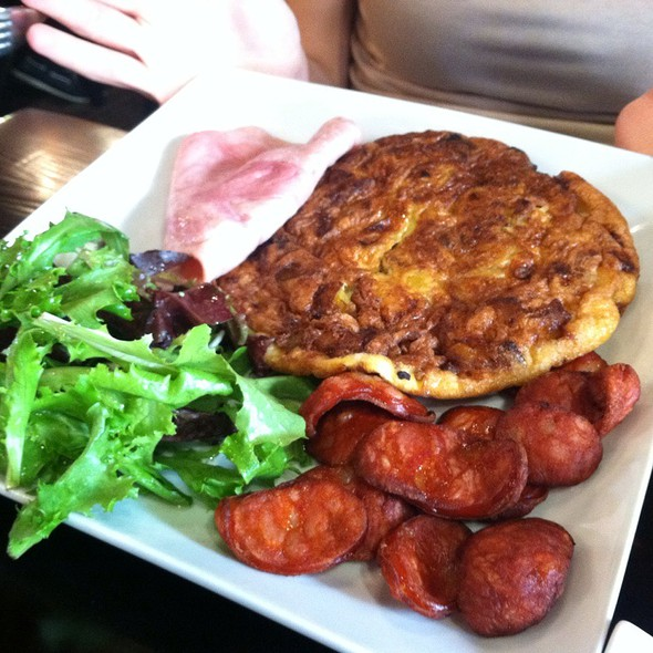 Plantain Omelette With Spicy Chorizo @ Cafe Cortadito