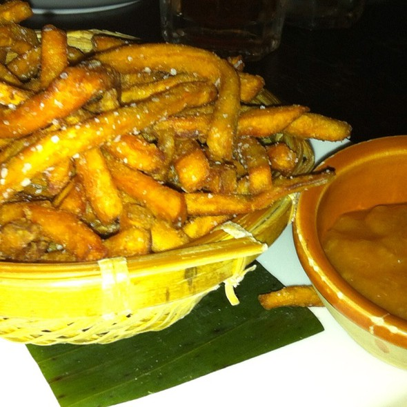 Sweet Potato Fries With Banana Ketchup On The Side - Attic, San Mateo, CA