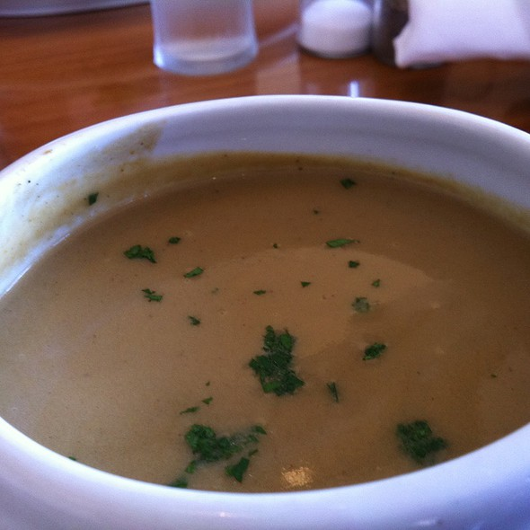 Eggplant Curry Soup - Sly's, Carpinteria, CA