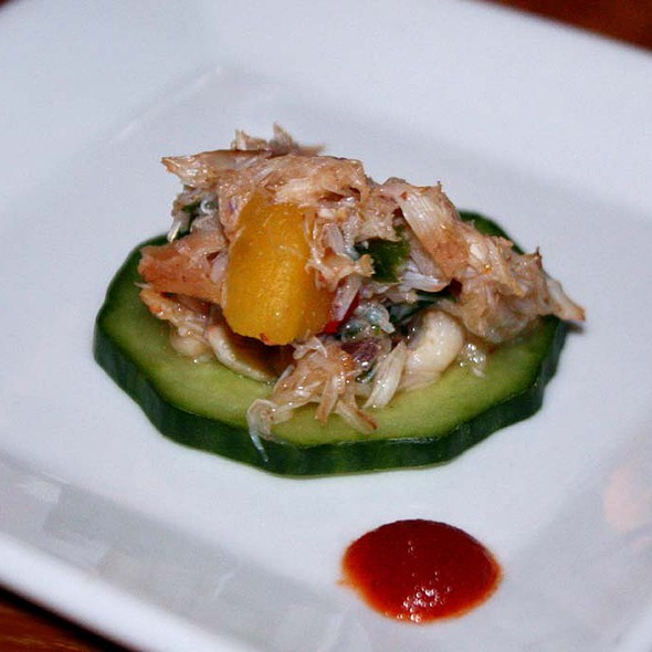 Crab Salad and Cucumber - Corner Kitchen, Asheville, NC