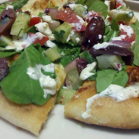 Greek Pizza With Added Arugula  @ California Pizza Kitchen