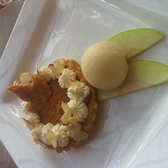 Pumpkin Pie with Apple Sorbet - The Conservatory At Vanderbilt Grace, Newport, RI