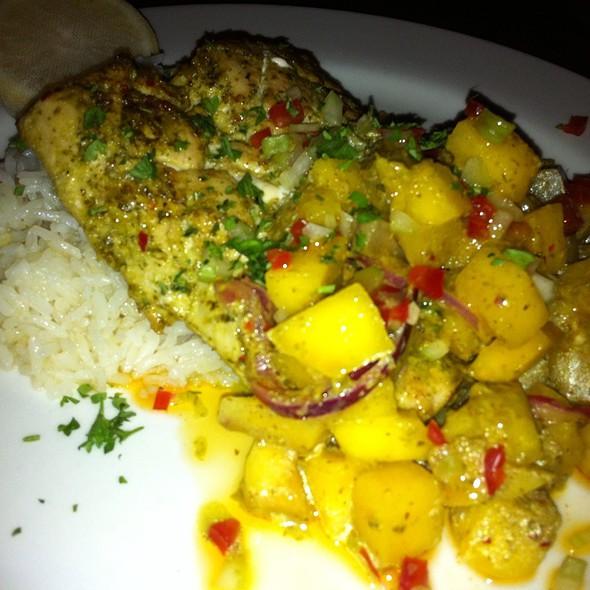 Mahi-Mahi Mango-Verde @ Jaguar Ceviche Spoon Bar & Latam Grill