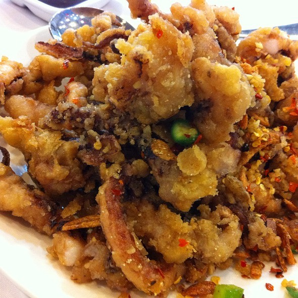 Spicy Pepper Salt Deep Feied Squid @ Golden Harvest Seafood Restaurant