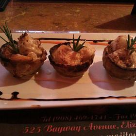 Tostones Rellenos ( Scallops And Shrimp)
