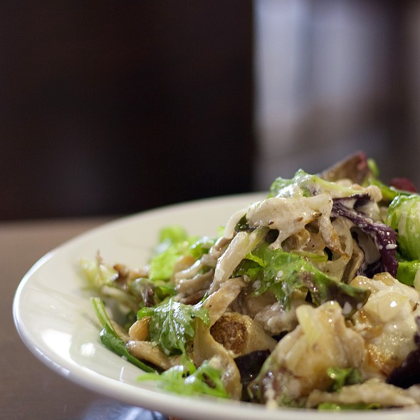Oyster Mushroom, Ricotta and Chat Potato Salad @ Cafe Sopra @ Fratelli Fresh