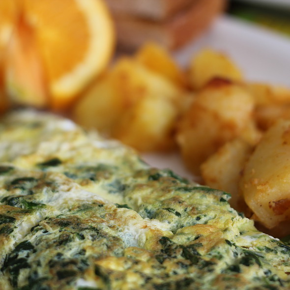 Spinach and Feta Omelette @ EggSmart