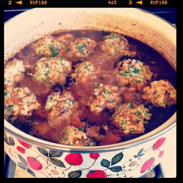 Short Rib Stew With Mushroom & Parsley Dumplings @ Dinner At Eight