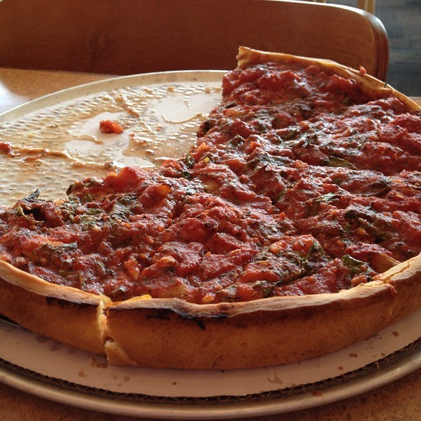 Chicken Special Deep Dish @ Zachary's Chicago Pizza