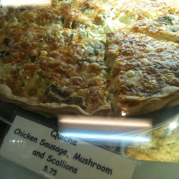 Chicken, Sausage And Scallion Quiche @ Bread & Cie Cafe