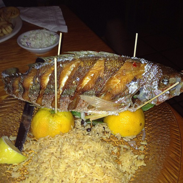 whole bahamian snapper. best dish ever. love toe  here @ Captain Charlies Reef Grill