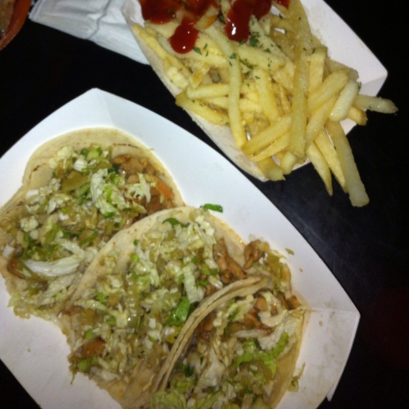 Spicy Chicken Tacos & Truffle Fries @ Kalbihau5 Food Truck