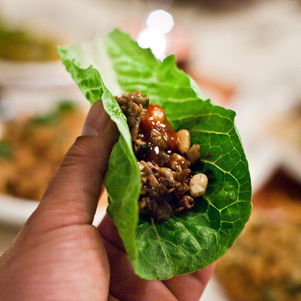 Minced Lamb Lettuce Cups @ E&O Kitchen and Bar