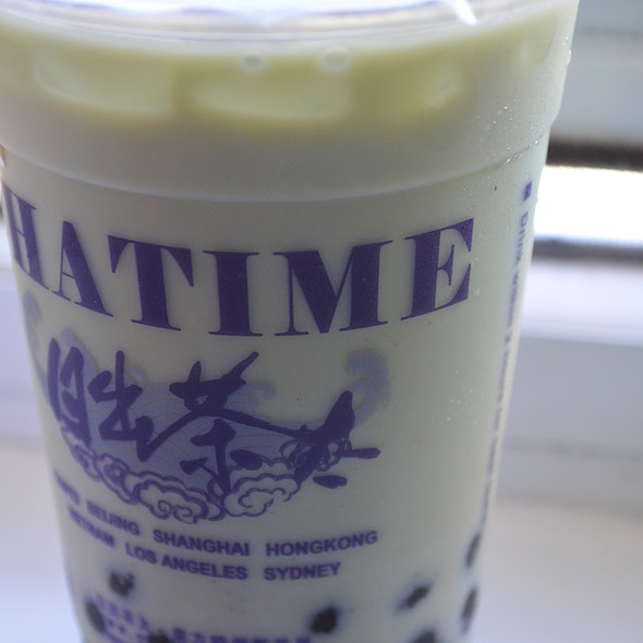 Matcha Tea Latte with Pearls @ CHATIME