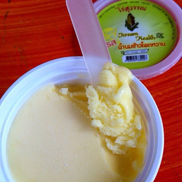 Corn Ice-cream @ Suwan Farm's Sweet Corn