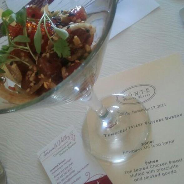 Hawaiian Ahi Tuna Tartar @ The Restaurant at Ponte Winery