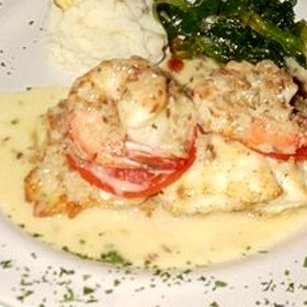 Veal with Shrimp in Cream Sauce