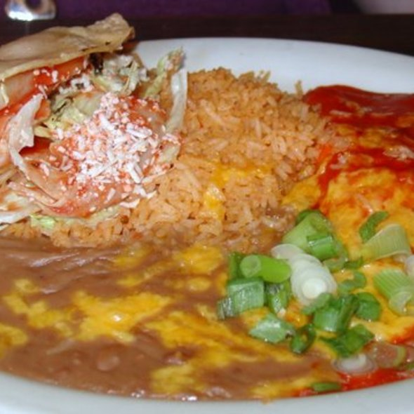 Enchilada & Taco Platter @ Ernie Jr's Taco House