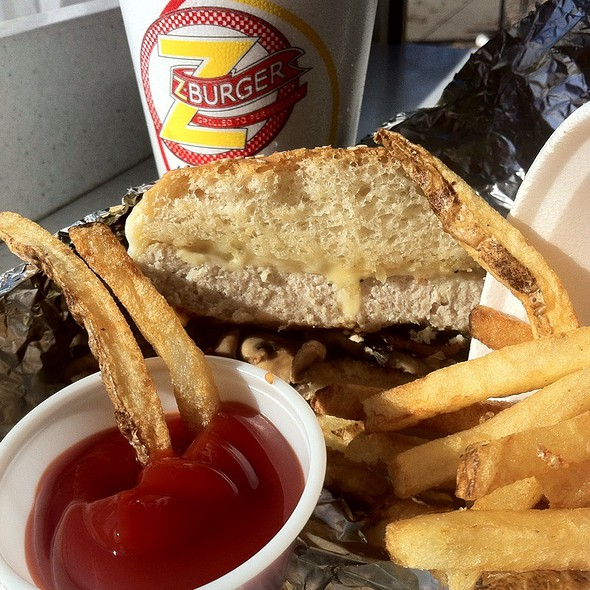 Turkey Burger And Fries @ Z Burger