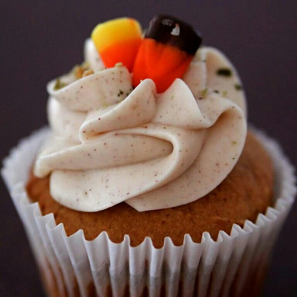 pumpkin spice cupcake @ Blissful Cupcakes
