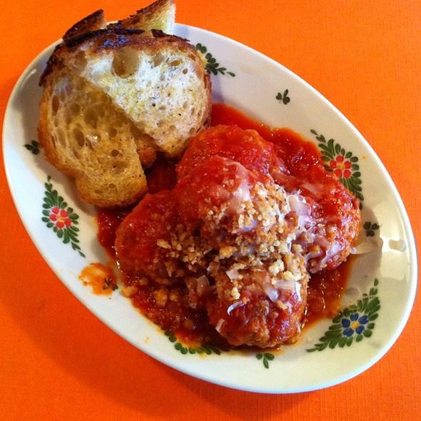 Proscuitto And Mortadella Meatballs @ Osteria Morini