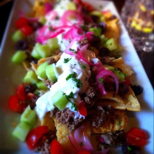 Greek Nachos @ Roe Restaurant
