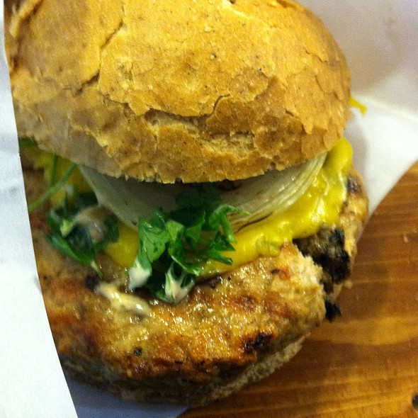 Indian Spiced Chicken Burger With Cheddar Cheese at Dukkan Burger