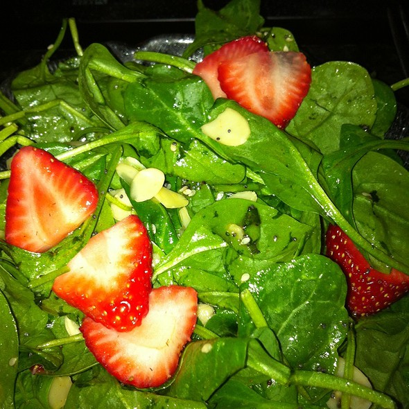 Spinach & Strawberry Salad @ Simply Fondue