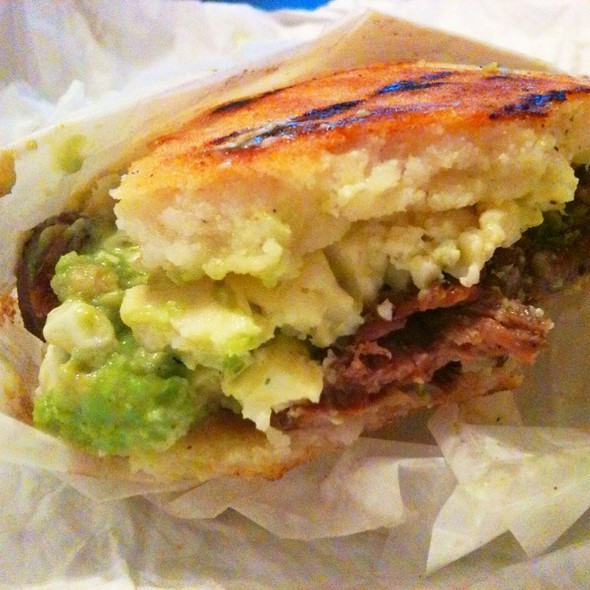 Arepas With Grilled Beef Tenderloin at Arepa Café