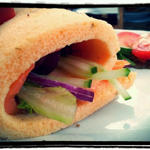 Smoked Salmon Club Sandwich @ Cafe- restaurant Schoonoord
