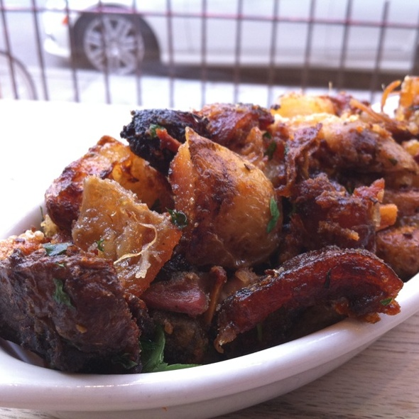 Crispy Potatoes With Burnt Pork Ends @ Porchetta