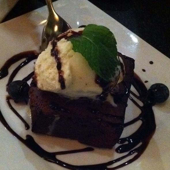 Brownie with Ice Cream @ Westward Carvery