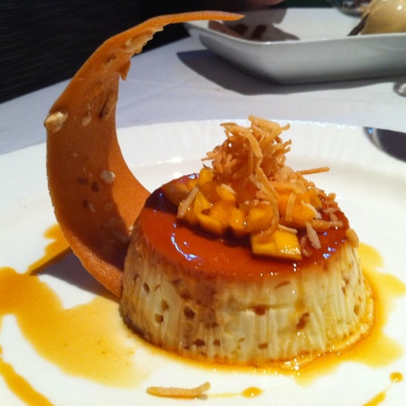 Coconut Flan With Corn Nut Tulle @ Pampas Palo Alto
