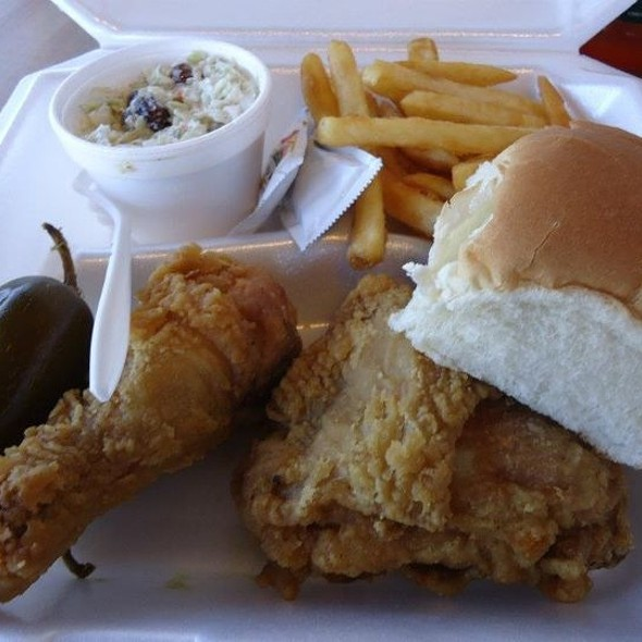 Fried Chicken With Fries, Coleslaw, & Roll @ James Fish & Chicken