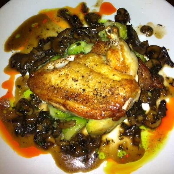 Pan Seared Chicken With Brussels Sprouts And Mushrooms - Tilikum Place Cafe, Seattle, WA