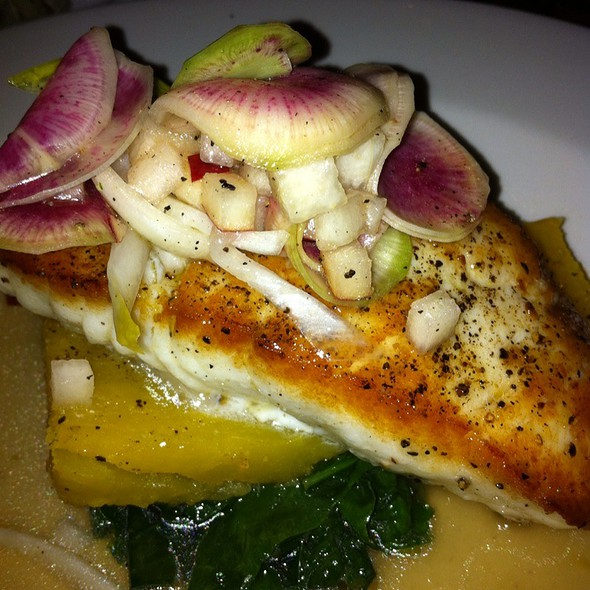 Incredible Seared Halibut - Tilikum Place Cafe, Seattle, WA