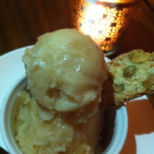 Apple Cider Sorbet - Tilikum Place Cafe, Seattle, WA