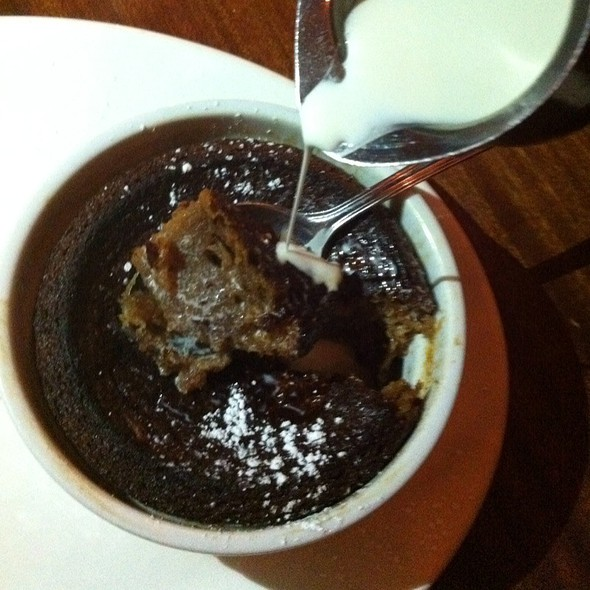Old Fashioned Baked Persimmon Pudding / Dessert - Tilikum Place Cafe, Seattle, WA