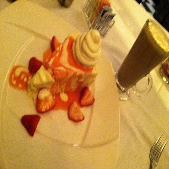Homemade Cheesecake With Jacks Classic Coffee - Jack's Oyster House, Albany, NY