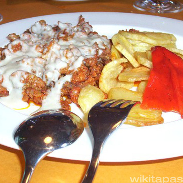 Picadillo al Cabrales @ Restaurante El Molín de la Pedrera