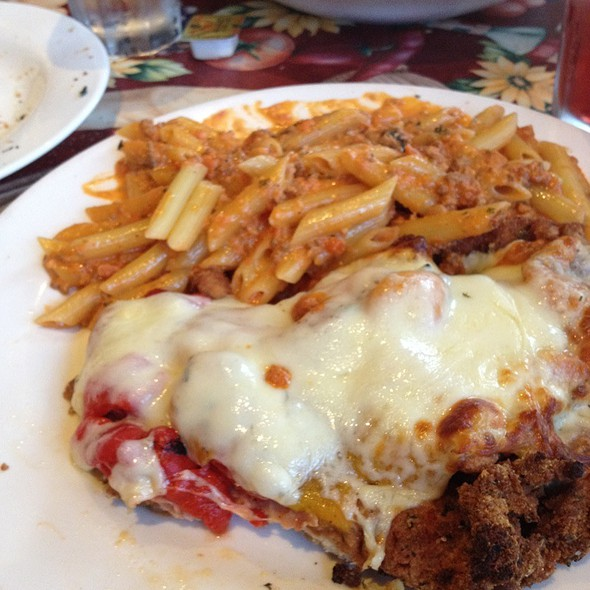 Pork Cutlet W/Penne Ala Vodka Special @ Cafe Al Dente of Oyster Bay