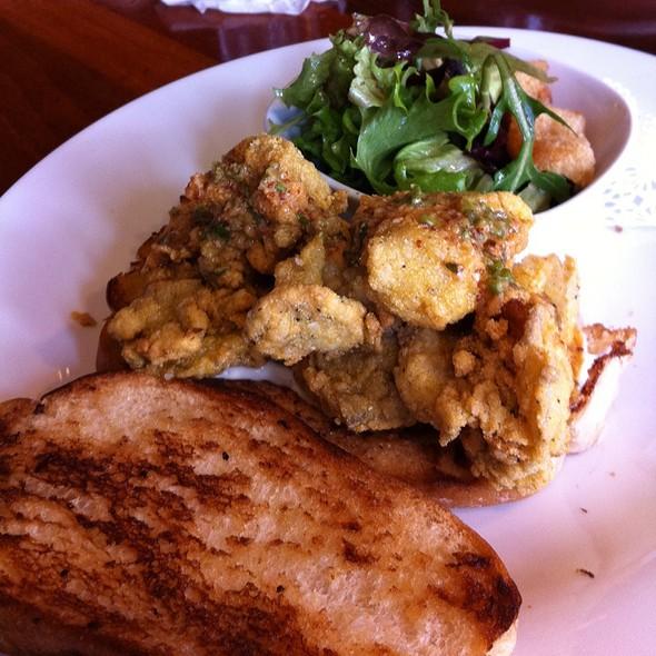Cornmeal Fried Oyster Sandwich @ Table 3 Restaurant & Market