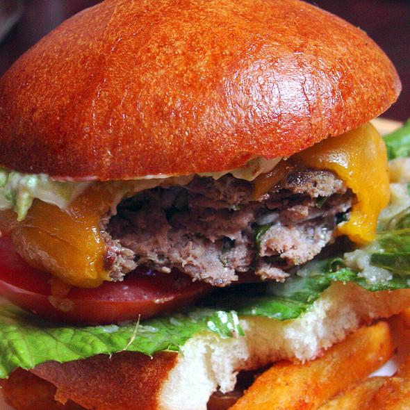 Lamb Burger and Fries @ Bistro Gambrinus