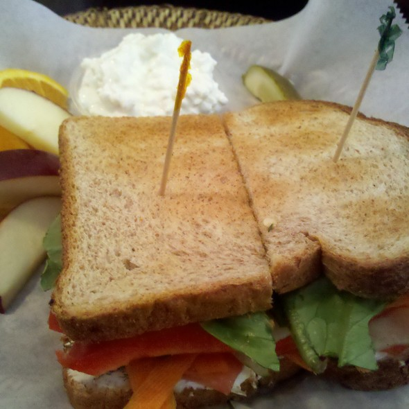 Vegetable Sandwich @ On the Right Track Roadhouse Cafe