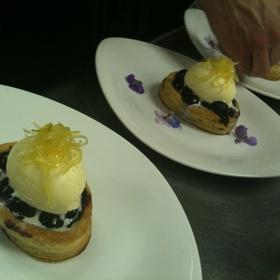 Blueberry Tart, Buttermilk Gelato,confit Lemon