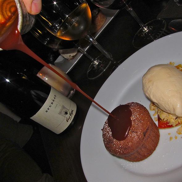 Chocolate Almond 'Clafoutis'/ Carmelized Banana/ Burnt Caramel/ Salted Caramel Ice Cream - Frances, San Francisco, CA